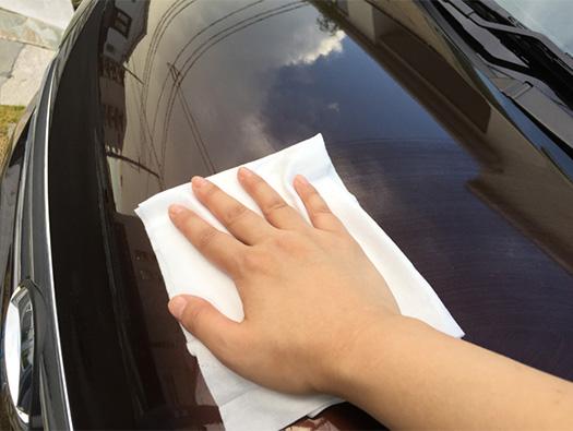 お出かけ前は、時短フクピカ洗車!