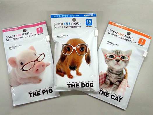 メガネのお手入れ3部作。