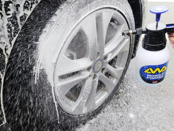 洗車機のような泡を自分で簡単に!