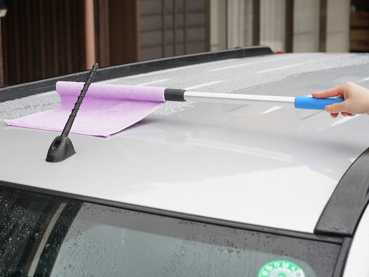 ミニバン・SUV・軽ハイトワゴンの洗車後ラクラク吸水方法!