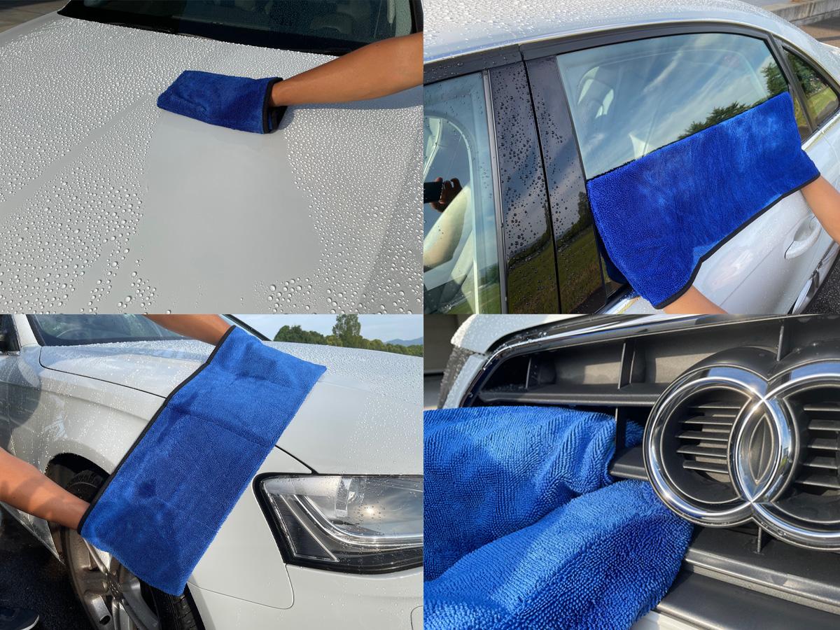 洗車作業の神アイテム 4つのポケットで変幻自在の拭き取りクロス