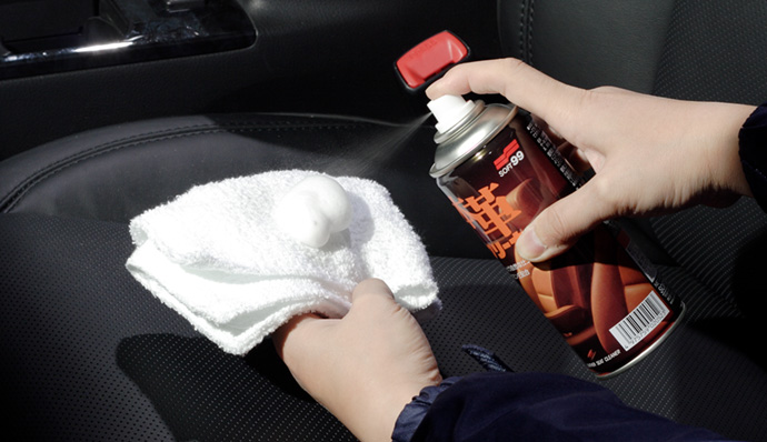 Clean the leather gently with a reinvigorating cleaner.