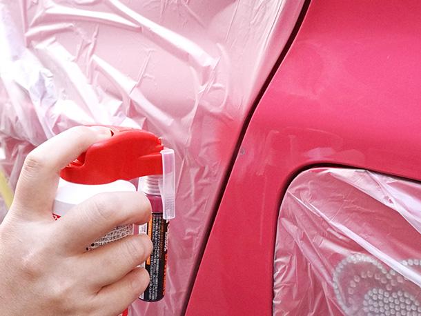 【初心者でもできる!『エアータッチ』を使って、車の簡単キズ補修やってみました】をアップしました。