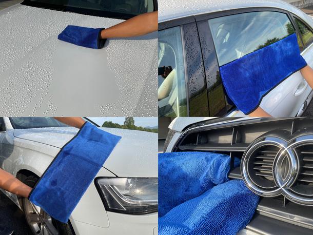 【洗車作業の神アイテム 4つのポケットで変幻自在の拭き取りクロス】をアップしました