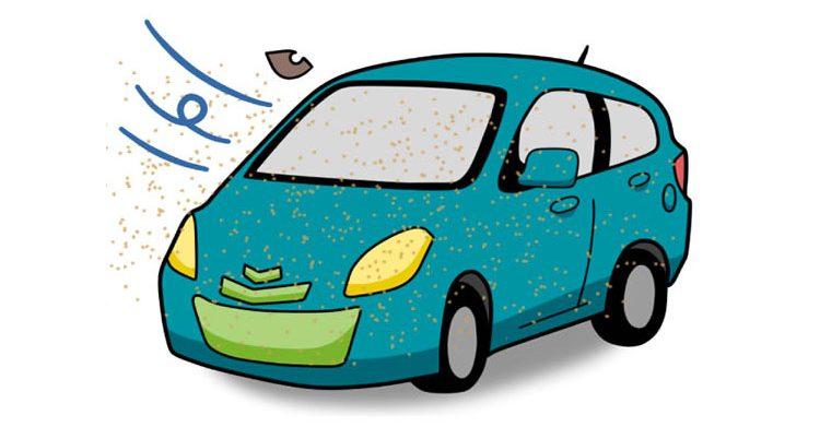 冬は土ボコリで車が汚れやすい季節